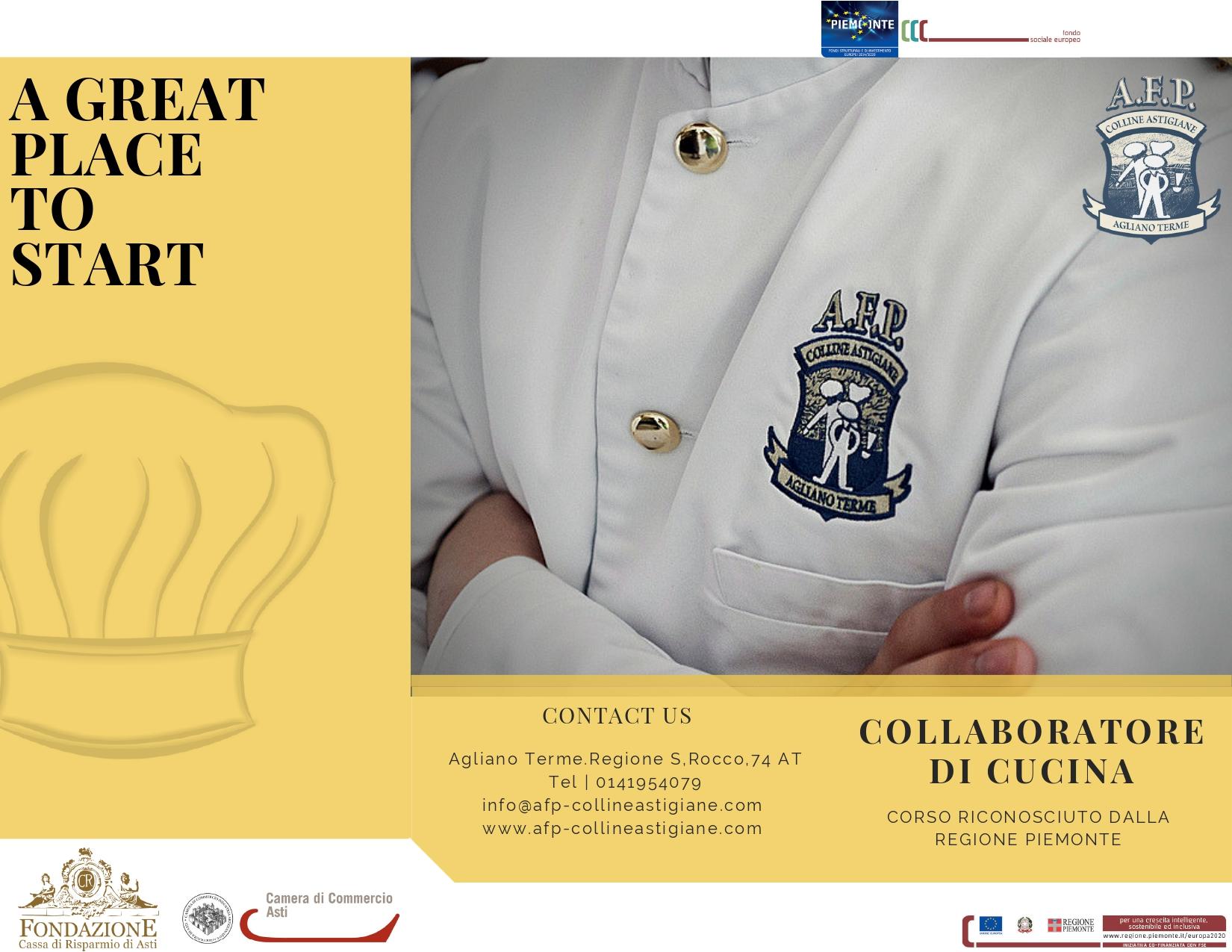 Agenzia Di Formazione Professionale Delle Colline Astigiane Collaboratore Di Cucina
